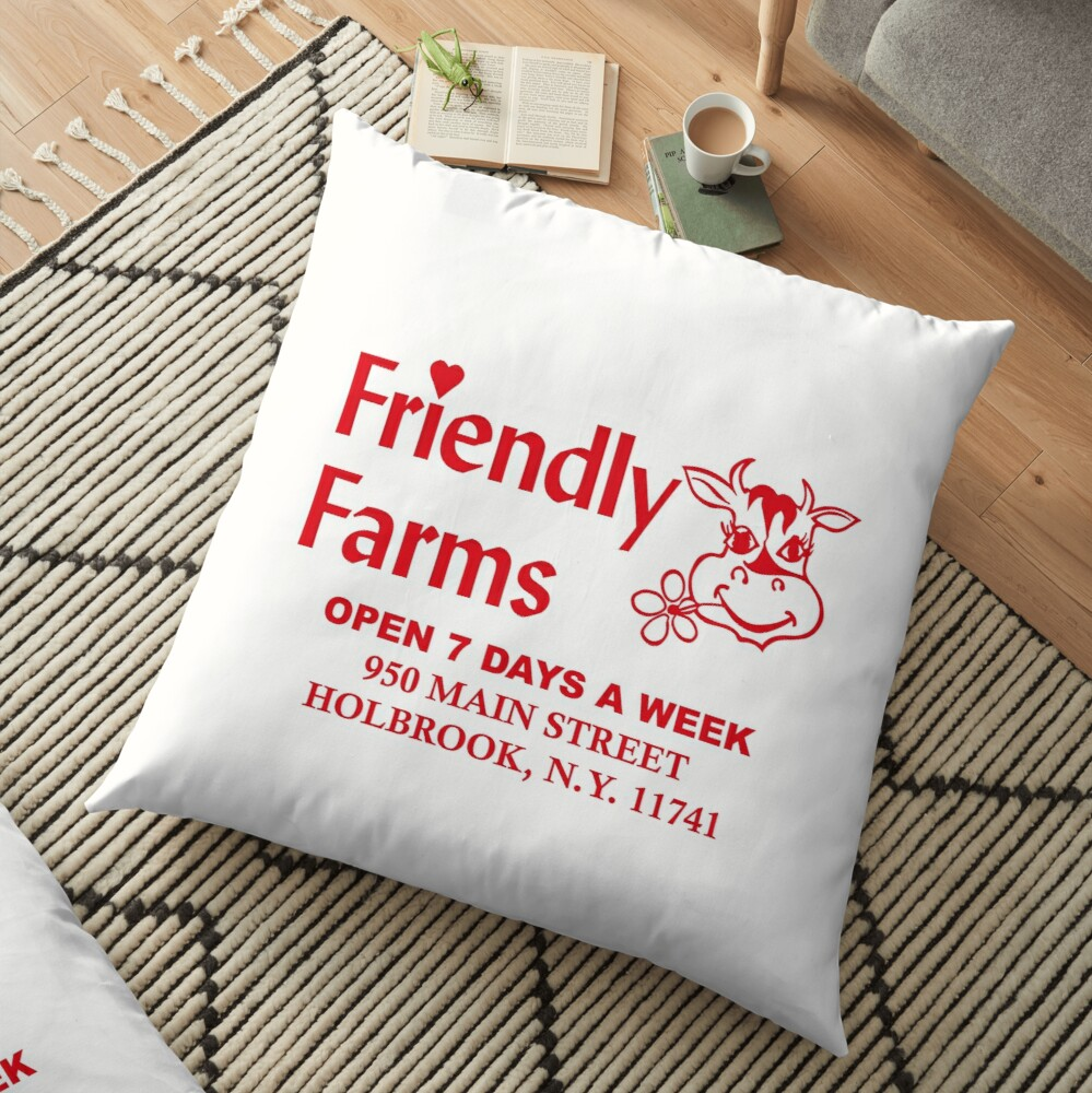 Friendly Farms Food Store - Holbrook, New York Floor Pillow