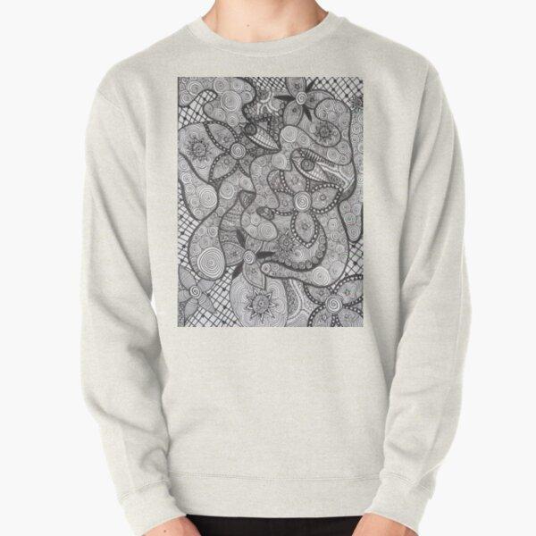 Trippy Line Art Pullover Sweatshirt