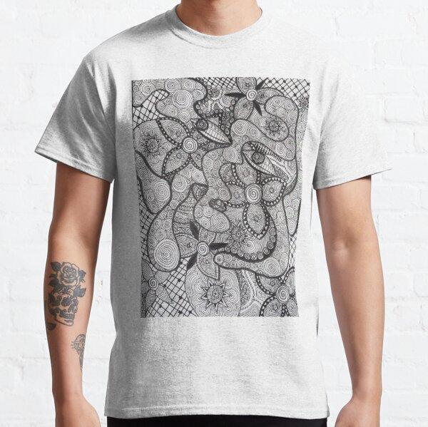 Trippy Line Art Classic T-Shirt