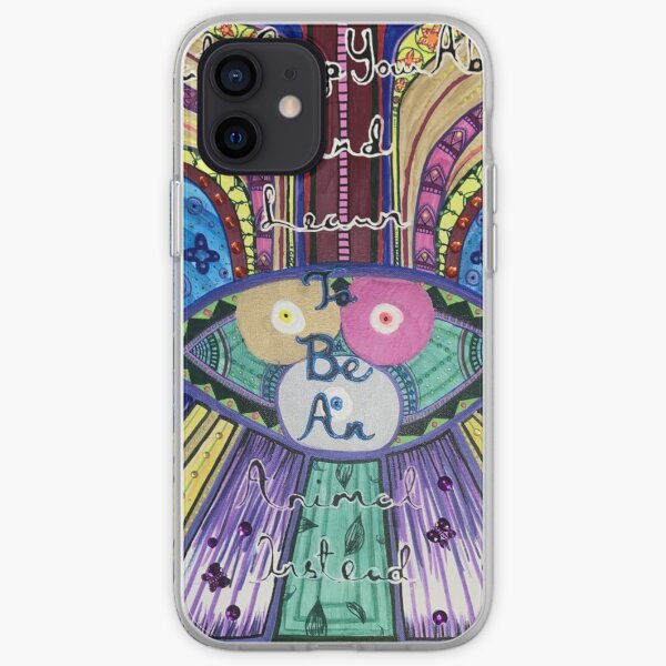Trippy Colorful Will Wood Art iPhone Soft Case