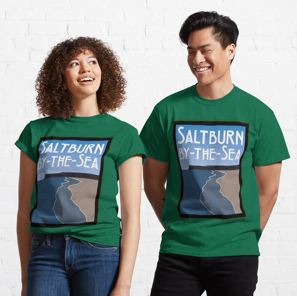 NDVH Saltburn Beach - Art Deco Classic T-Shirt