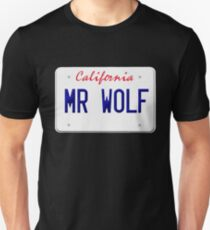 California Mr Wolf License plate Unisex T-Shirt