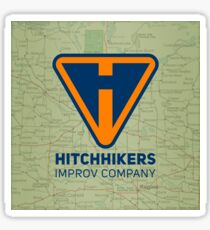 Hitchhikers Improv (Navy & Orange) Sticker