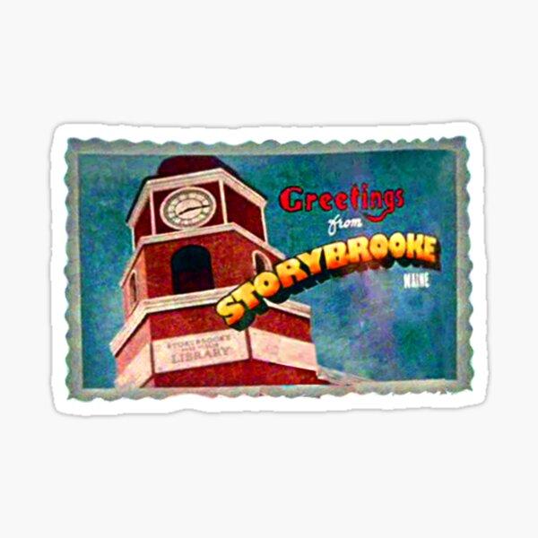 Salutations de la carte postale de Storybrooke Sticker