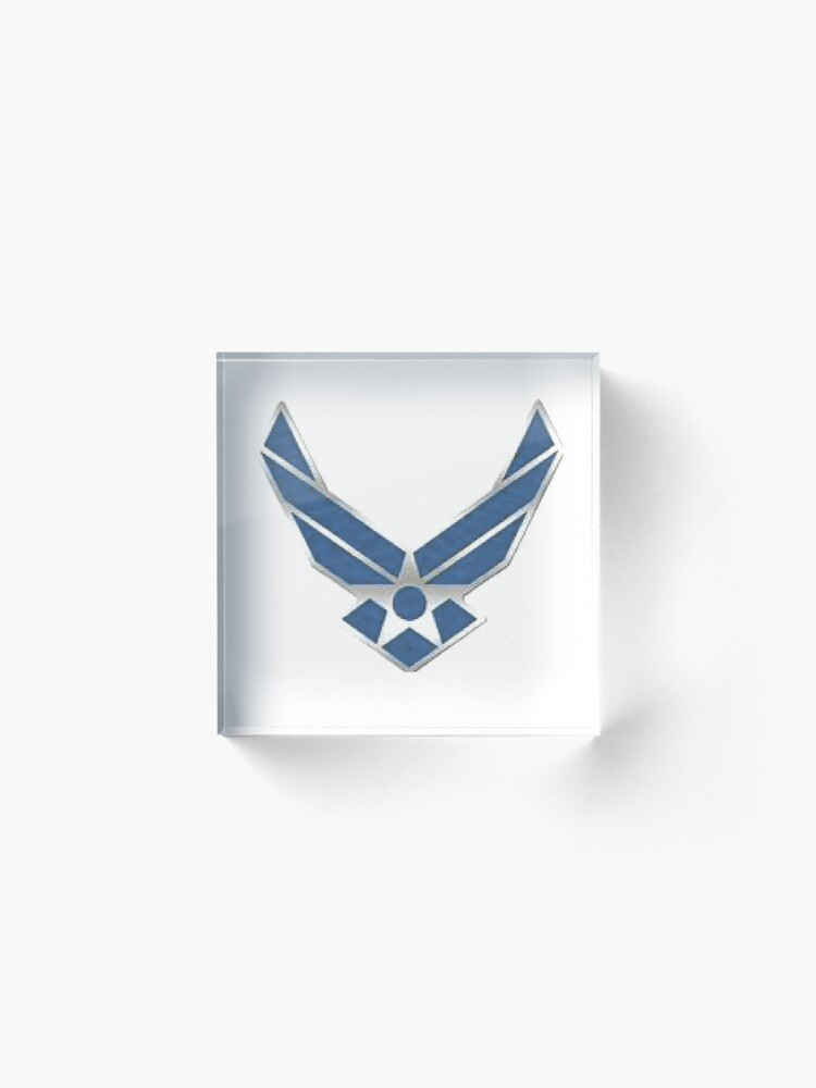 Alternate view of US Air Force WINGS, AIM HIGH Acrylic Block