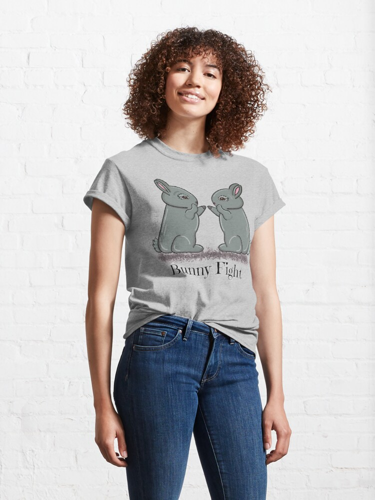 Alternate view of Bunny Fight! Classic T-Shirt