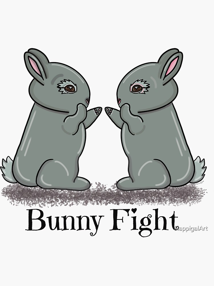 Bunny Fight! by HappigalArt