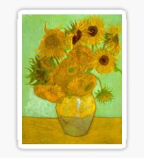 'Twelve Sunflowers' by Vincent Van Gogh (Reproduction) Sticker