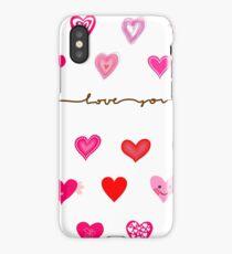 Cute Hearts iPhone Case/Skin