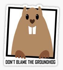 DON'T BLAME THE GROUNDHOG Sticker
