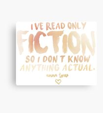 I've Read Only Fiction - Anna Torv (Red) Canvas Print