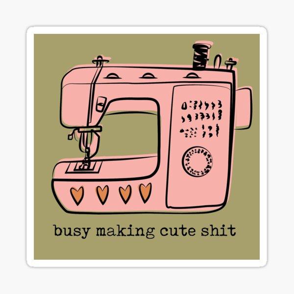 Sewing Machine for Cute stuff Sticker