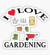 I Love Gardening Sticker