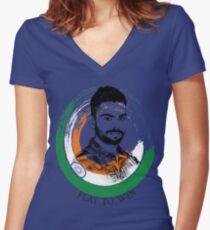 Virat Kohli Women's Fitted V-Neck T-Shirt