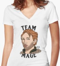 Team Mage Anders Women's Fitted V-Neck T-Shirt