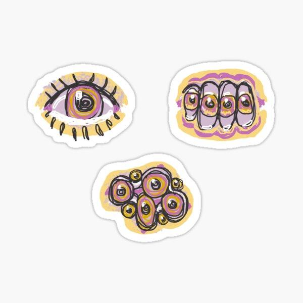 Technicolor eyes yellow pink orange  Sticker