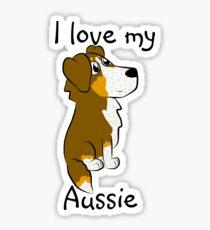 I Love My Aussie 2 Sticker