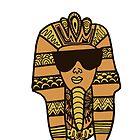 Egyptian Pharaoh Zentangle by alexavec