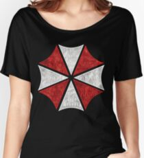 Resident Evil Umbrella Typography Women's Relaxed Fit T-Shirt