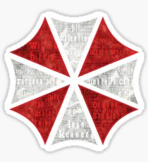 Resident Evil Umbrella Typography Sticker