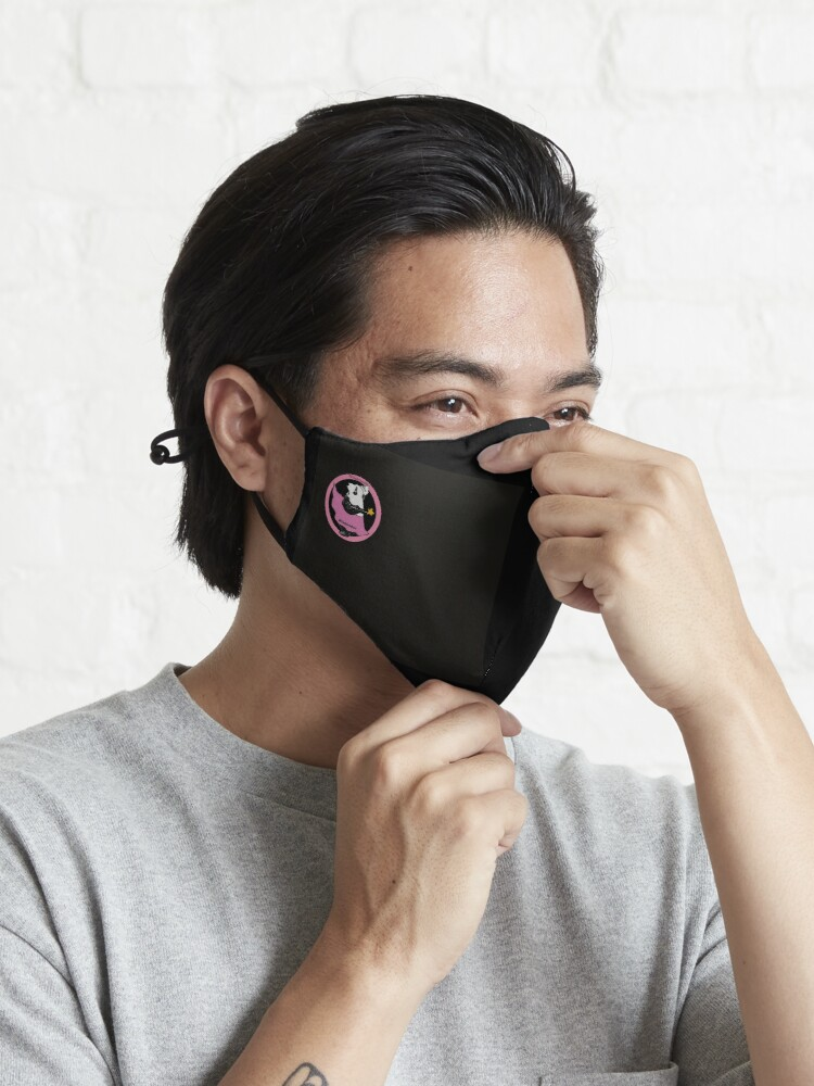 Alternate view of Pouty Pinky on Black Mask Mask