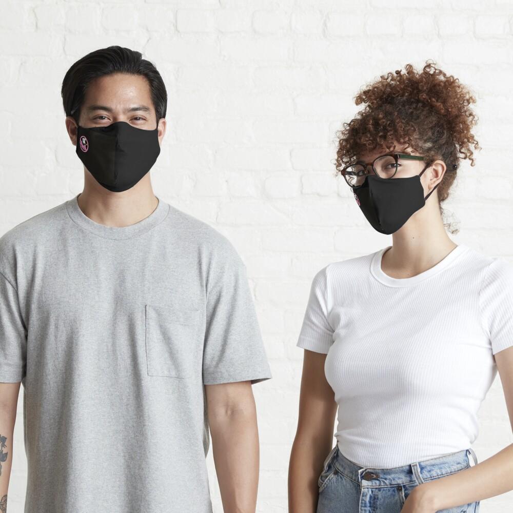 Pouty Pinky on Black Mask Mask