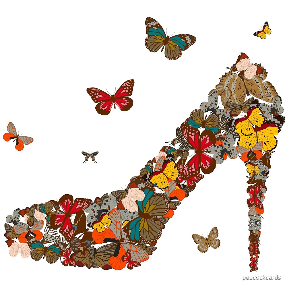 Butterflies and High Heels by peacockcards