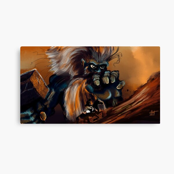 Mountain Monster Canvas Print