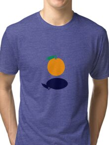 Orange Floating Tri-blend T-Shirt