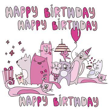 So Many Cats Happy Birthday by peacockcards