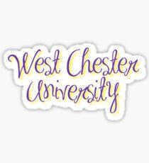 WCU script Sticker