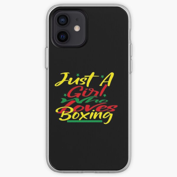Just A Girl Who Loves Boxing ,T-Shirt iPhone Soft Case