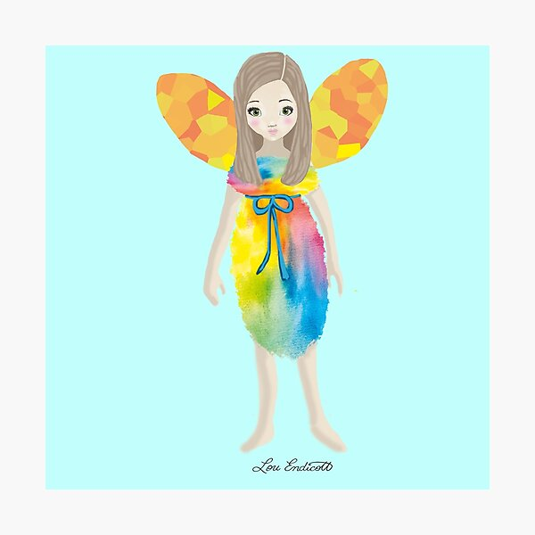 The Littlest Fae - Faery - Fairy- Rainbow  Photographic Print