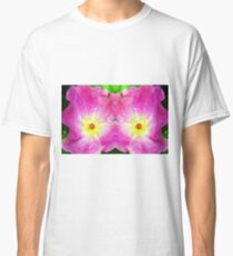 Pink Rose Bloom Mirrored  Classic T-Shirt