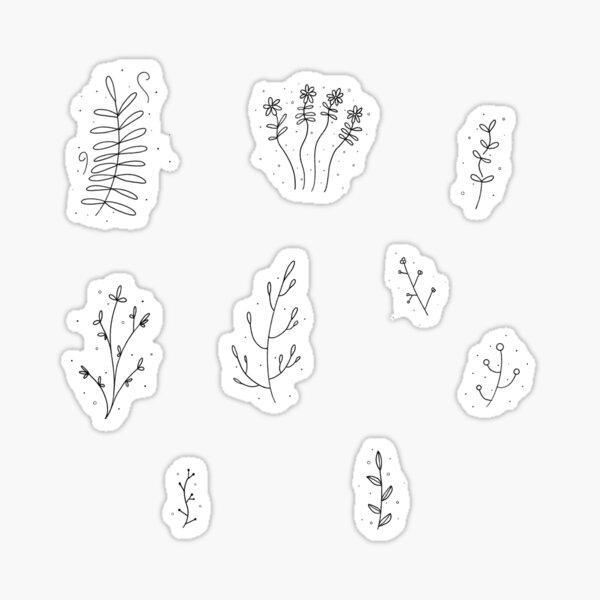 Plant Doodle Sticker Set Sticker
