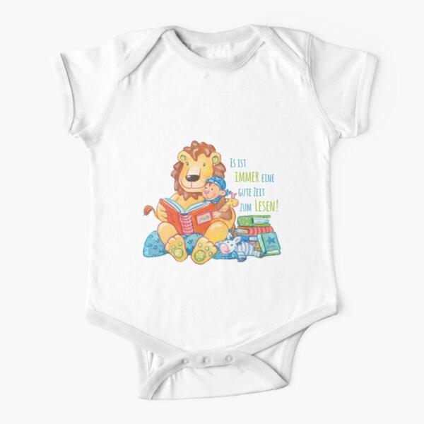 Lille und Löwe lesen Baby Body Kurzarm