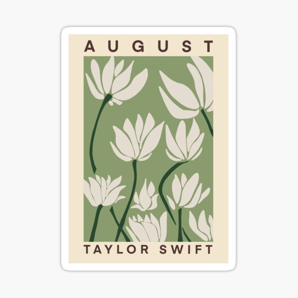 Taylor Swift August  Sticker