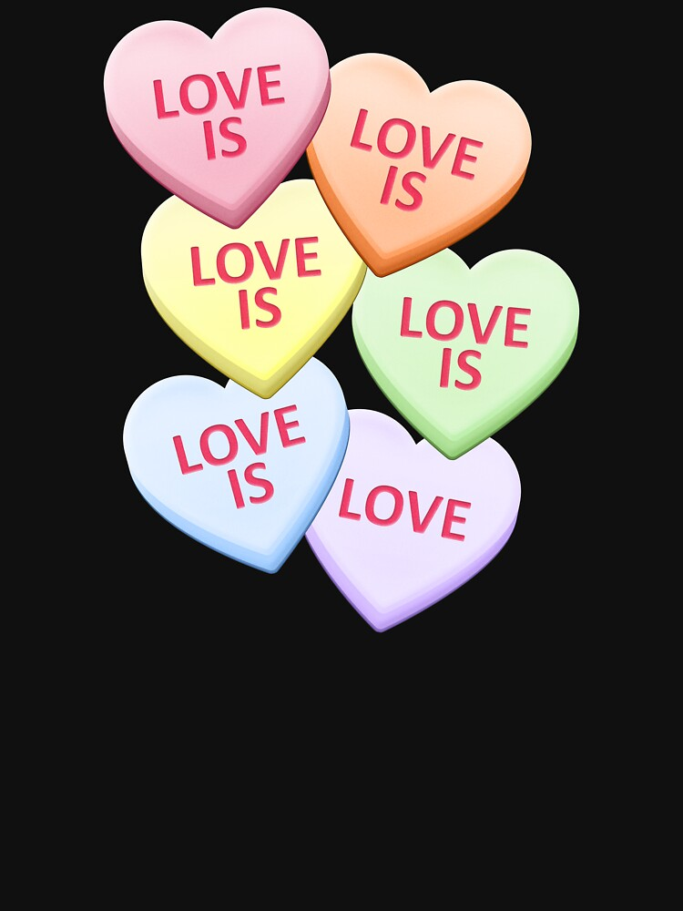 Love Is Love Gay Pride Candy Heart Valentine's Day by valador