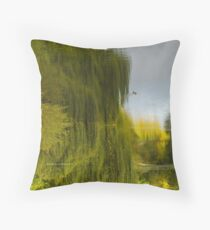 Reflected Willow Throw Pillow