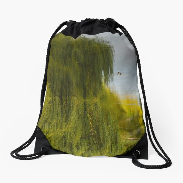 Reflected Willow Drawstring Bag