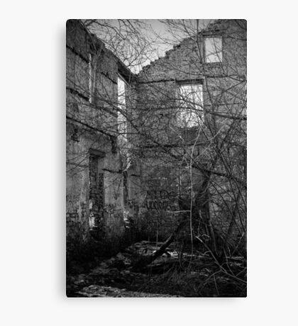 Interior, Abandoned Building - Elora, Ontario Canvas Print