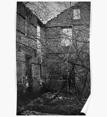 Interior, Abandoned Building - Elora, Ontario Poster