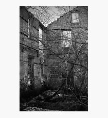 Interior, Abandoned Building - Elora, Ontario Photographic Print