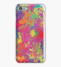 Modern Neon Pollock by Rhode Island Arts iPhone Case/Skin