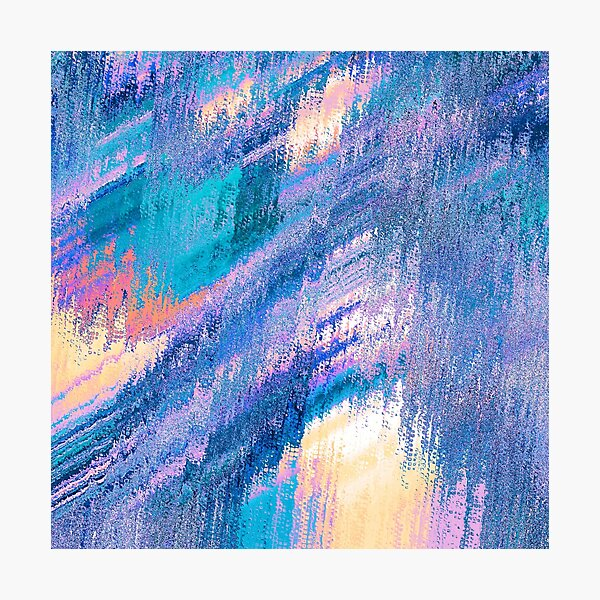 Blurred Color Pattern Photographic Print