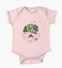 Cartoon Camping Scene Kids Clothes