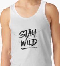 Stay Wild - Black Tank Top