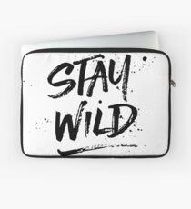 Stay Wild - Black Laptop Sleeve