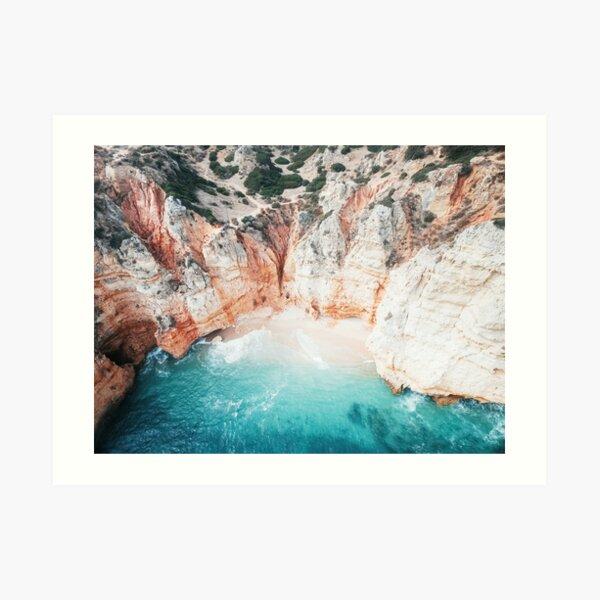 Aerial photo of hidden beach Art Print