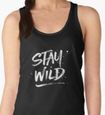 Stay Wild - White Women's Tank Top